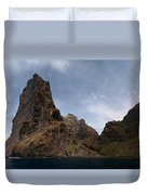 Masca Valley Entrance Panorama Duvet Cover