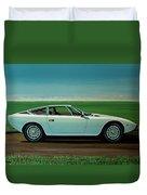 Maserati Khamsin 1974 Painting Duvet Cover