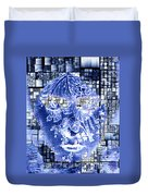 Mask Of The Great Lady Duvet Cover