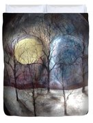 Mask Of The Moon Duvet Cover
