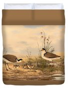 Masked Lapwing Duvet Cover