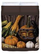 Masked Pumpkin Duvet Cover