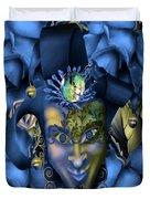Masquerade Blues Duvet Cover