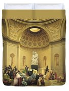 Mass In The Expiatory Chapel Duvet Cover by Lancelot Theodore Turpin de Crisse
