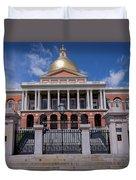 5- Massachusetts State House Eckfoto Boston Freedom Trail Duvet Cover