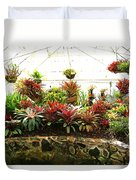 Massed Bromeliad In Hothouse Duvet Cover