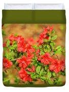 Masses Of Azaleas Duvet Cover