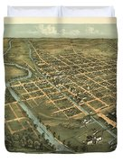 Massillon Ohio 1870 Duvet Cover