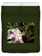 Master Gardeners Art Floral Pink Lily Flower Baslee Troutman Duvet Cover