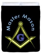 Master Mason In Black Duvet Cover