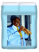 Master Of Jazz Duvet Cover