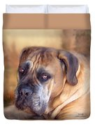 Mastiff Portrait Duvet Cover by Carol Cavalaris