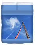 Masts And Clouds Duvet Cover