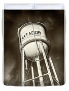 Matador Texas Water Tower Duvet Cover
