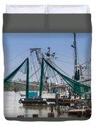 Matagorda Fishing Boats Duvet Cover