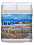 Matagorda Island Texas Duvet Cover