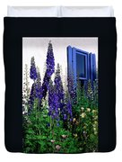 Matching Flowers And  Window Duvet Cover