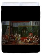 Private Chamber Of An Aristocratic Turkish Woman Duvet Cover