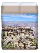Mather Point At The Grand Canyon Duvet Cover by Julie Niemela