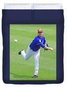 Matt Harvey New York Mets Duvet Cover