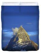Matterhorn Mountain At Sunrise, Close Up Duvet Cover
