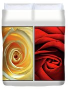 Matters Of The Heart - Diptych Duvet Cover