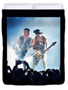 Matthias Jabs And Rudolf Schenker Shredding Duvet Cover