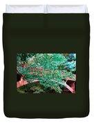 Matthiessen State Park Bridge False Color Infrared No 1 Duvet Cover