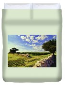 Matunuck Corn Fields Duvet Cover