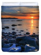 Maughold Beach Duvet Cover