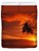 Maui, A Beautiful Sunset Duvet Cover