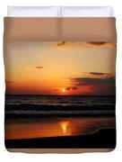 Maui Beach At Sunset Duvet Cover