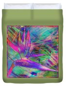 Maui Bird Of Paradise Duvet Cover