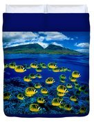 Maui Butterflyfish Duvet Cover by Dave Fleetham - Printscapes