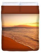 Maui, Hazy Orange Sunset Duvet Cover