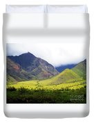 Maui Mountains Duvet Cover