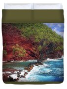 Maui Red Sand Beach Duvet Cover