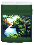 Maui Seven Sacred Falls #184 Duvet Cover