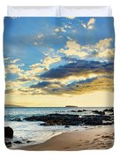 Maui Sunset Panorama Duvet Cover