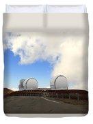 Mauna Kea Observatories Duvet Cover