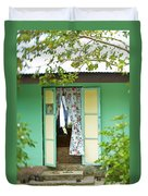 Maupiti Doorway Duvet Cover
