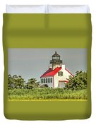 Maurice River, New Jersey, East Pointe  Lighthouse Duvet Cover
