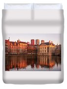 Mauritshuis And Hofvijver At Golden Hour - The Hague Duvet Cover