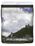 Maus Castle And The Village Of Wellmich Duvet Cover