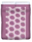 Mauve Plaid Pattern Duvet Cover