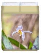 Mauve Trout Lily Duvet Cover
