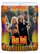 Max Hell Frog Warrior Duvet Cover by The Scott Shaw Poster Gallery