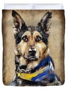 Max The Military Dog Duvet Cover