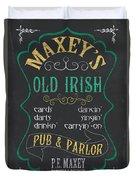 Maxey's Old Irish Pub Duvet Cover