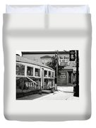 Max's Diner New Jersey Black And White Duvet Cover